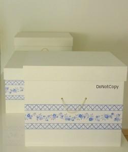 scatole bordo blu