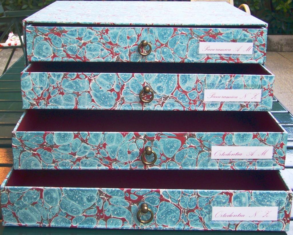 4 cassetti marmorizzata- studio dentistico