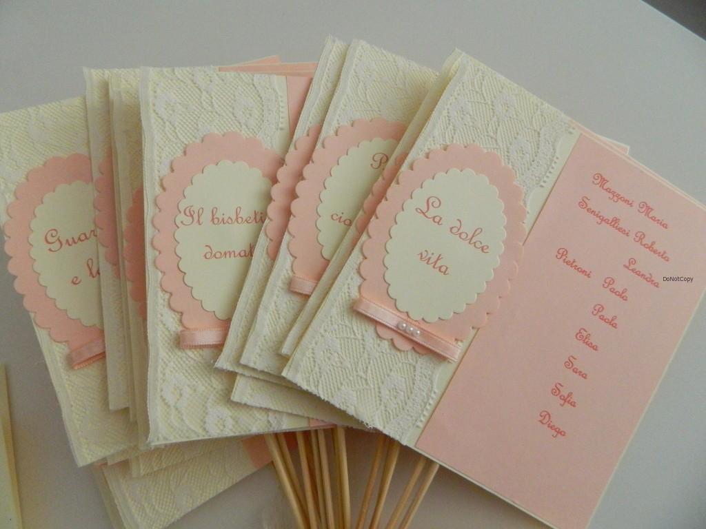 cartoncini per tableau di matrimonio