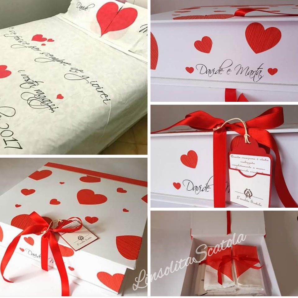 scatola personalizzata per una coppia di spos