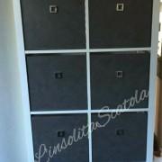 scatole personalizzate per libreria Billy di Ikea