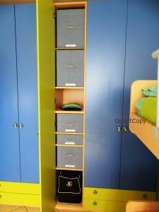 Scatole armadio rivestite in stoffa jeans